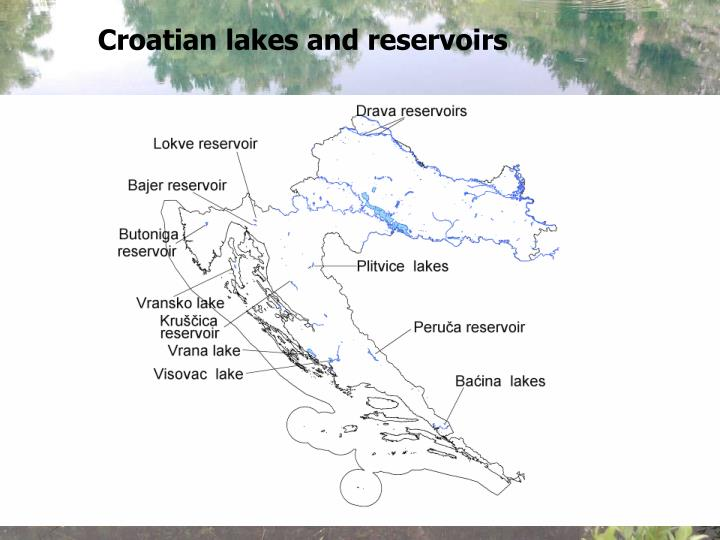 Croatian lakes and reservoirs