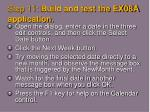 step 11 build and test the ex08a application