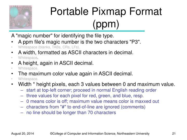 Portable Pixmap Format (ppm)