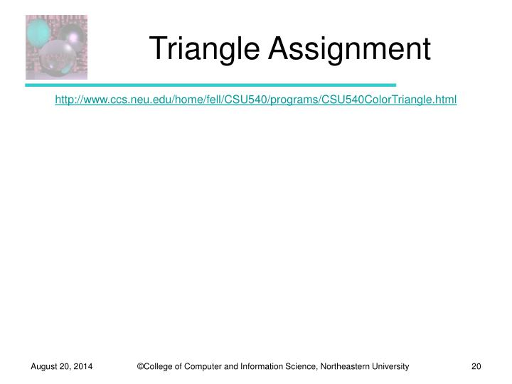 Triangle Assignment