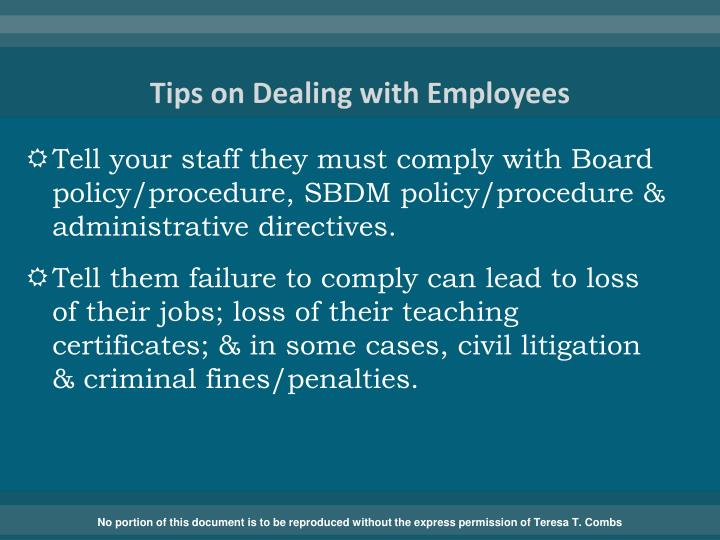 Tips on Dealing with Employees