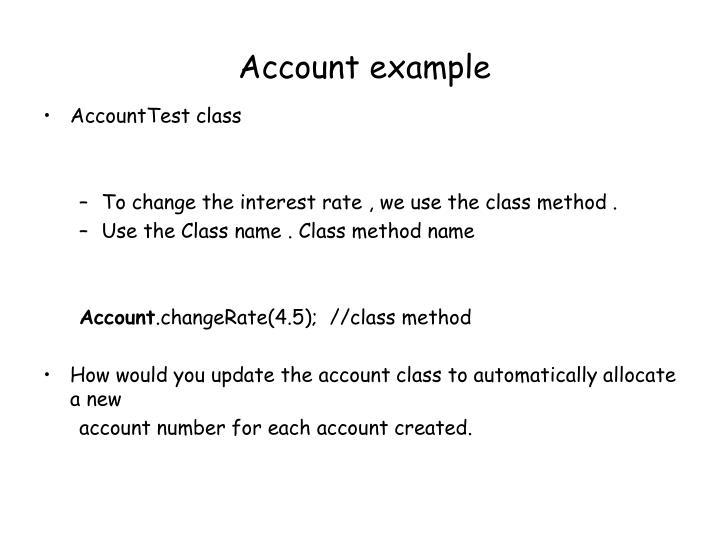 Account example