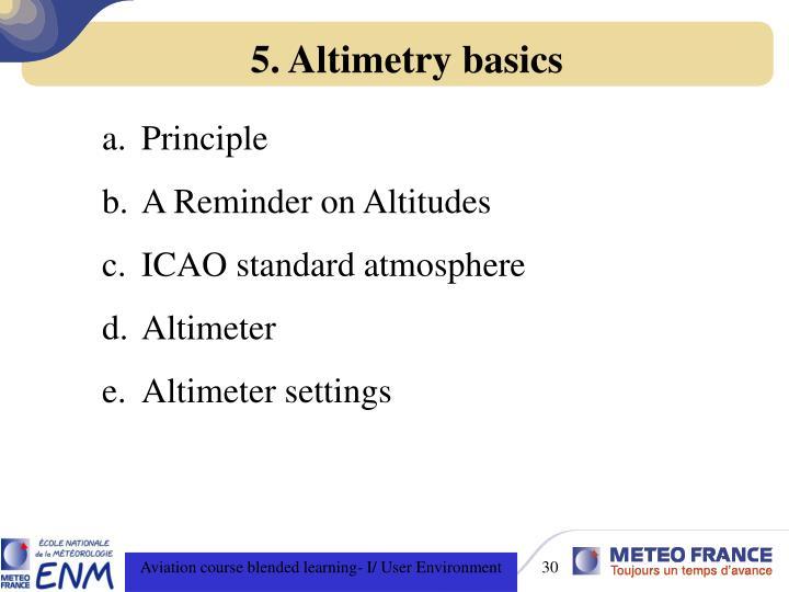5. Altimetry basics