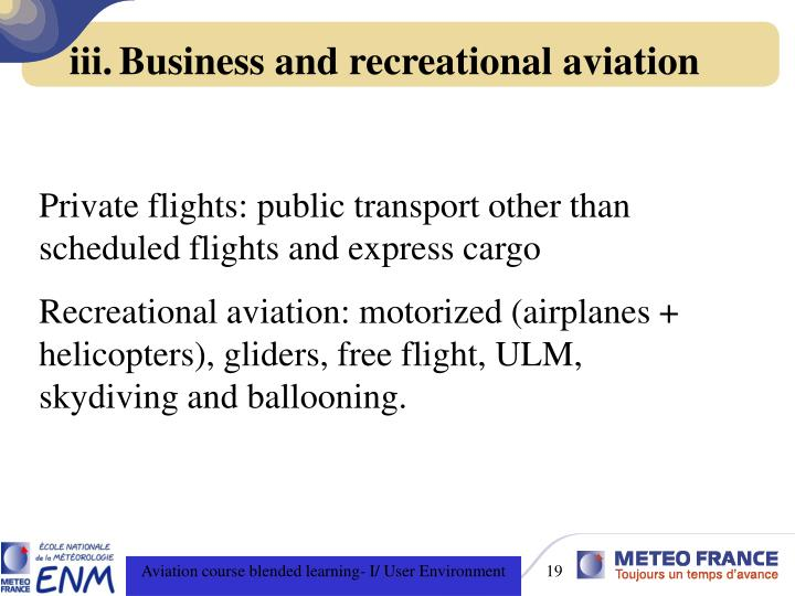 Business and recreational aviation