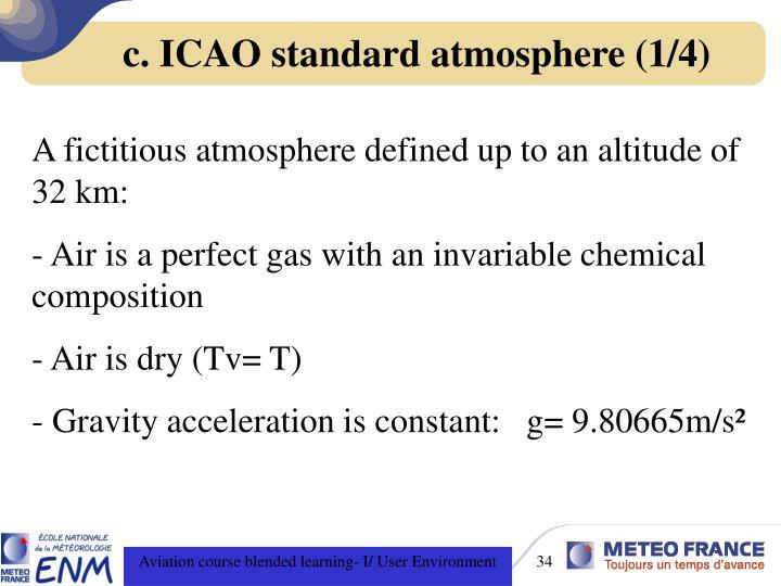 c. ICAO standard atmosphere (1/4)