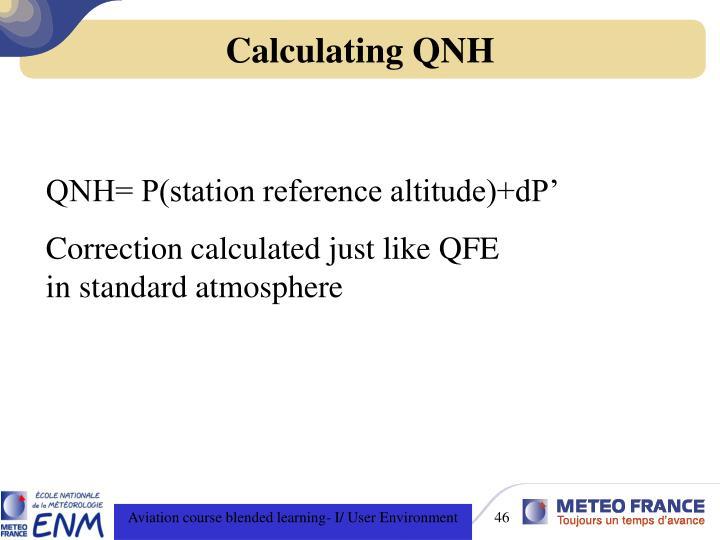 Calculating QNH