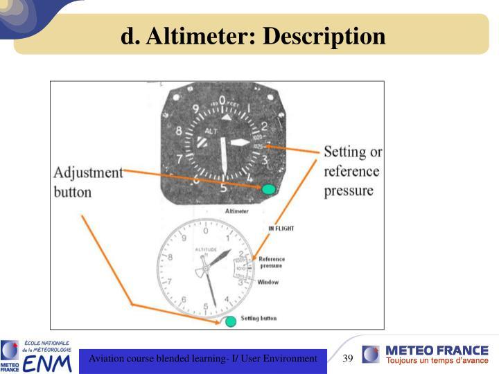 d. Altimeter: Description