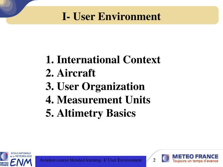 I user environment1