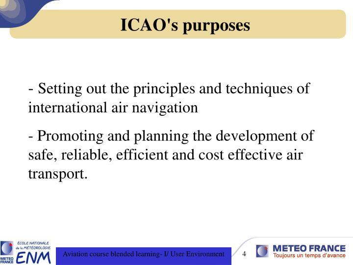 ICAO's purposes