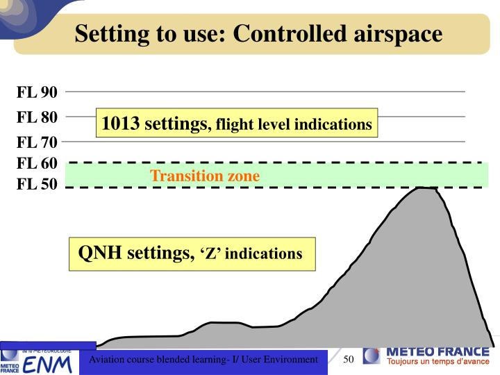 Setting to use: Controlled airspace