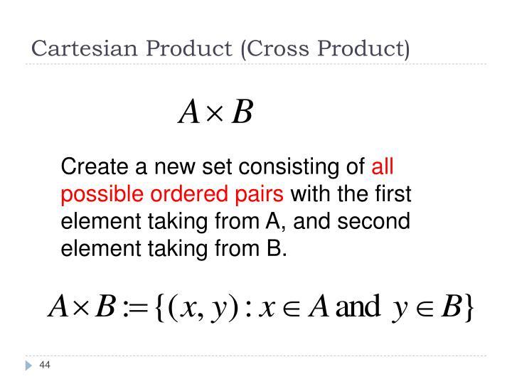 Cartesian Product (Cross Product)