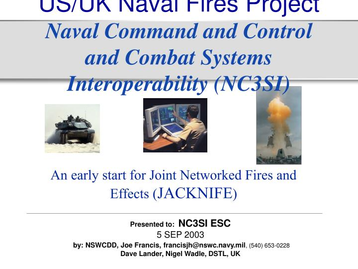 US/UK Naval Fires Project