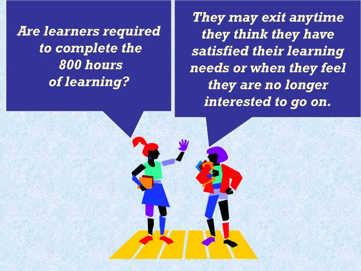 Are learners required
