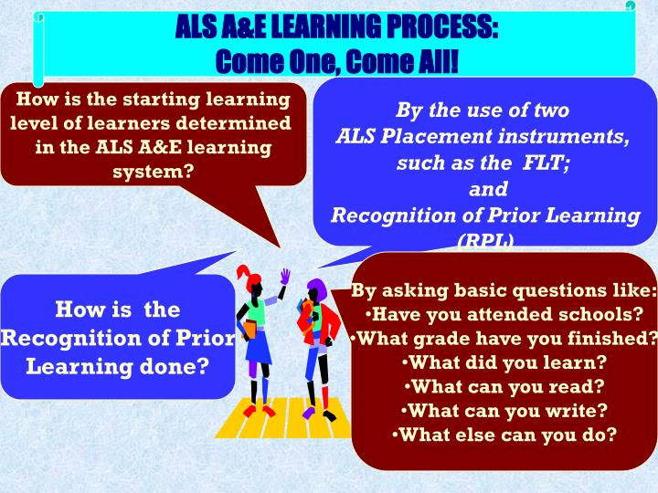 ALS A&E LEARNING PROCESS: