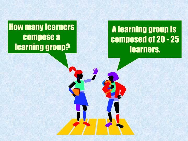 How many learners