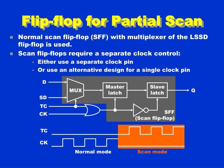 Flip-flop for Partial Scan