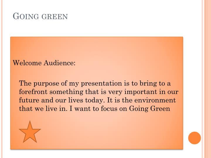 Going green1