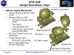 efw axb design description cage
