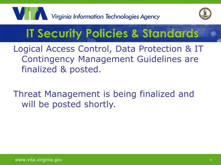 It security policies standards