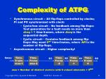 complexity of atpg