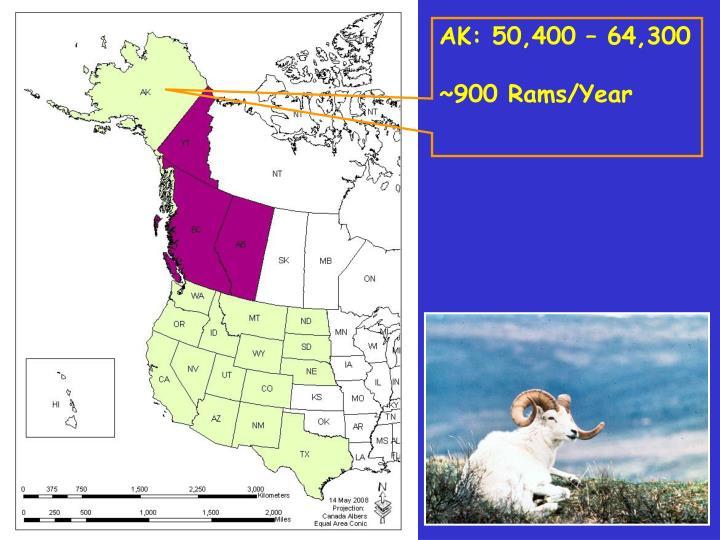 AK: 50,400 – 64,300