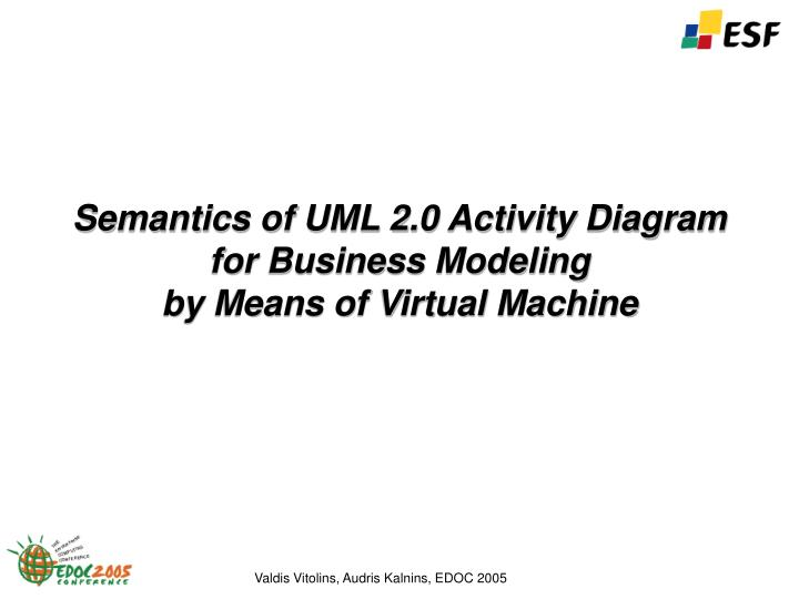 semantics of uml 2 0 activity diagram for business modeling by means of virtual machine