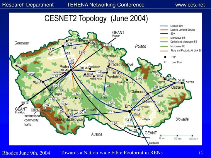 Towards a Nation-wide Fibre Footprint in RENs
