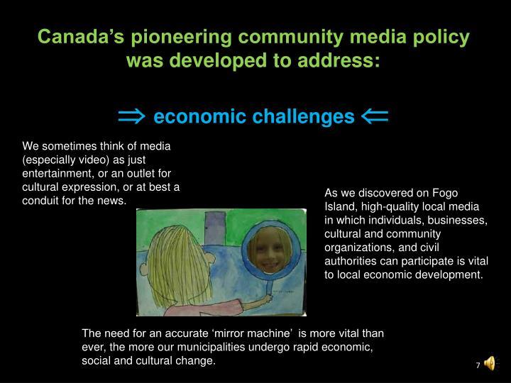 Canada's pioneering community media policy