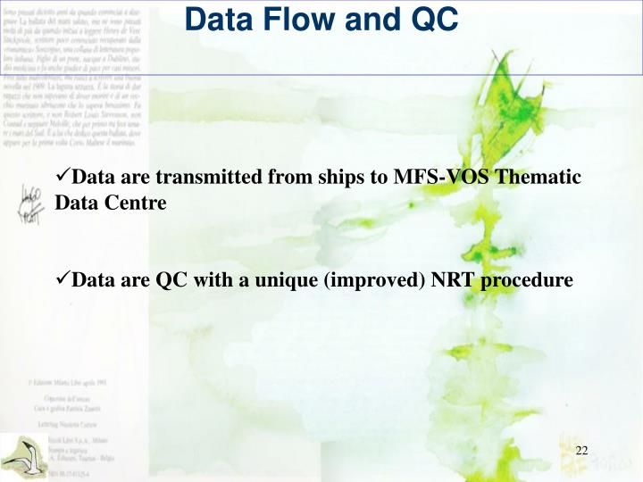 Data Flow and QC