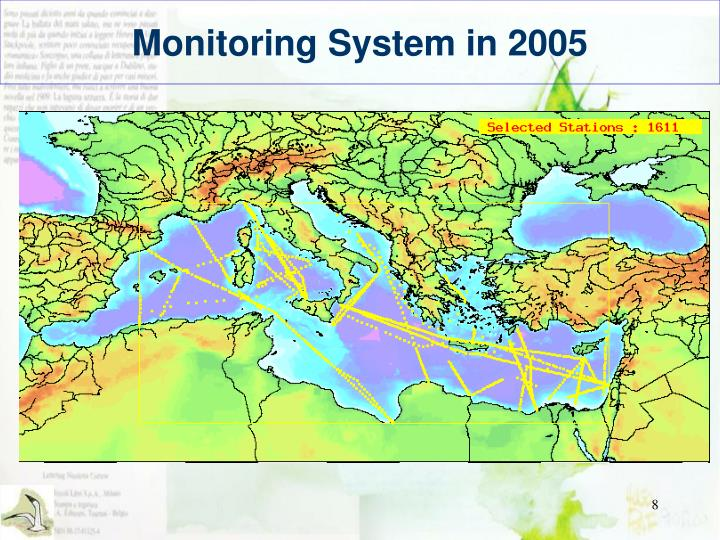 Monitoring System in 2005