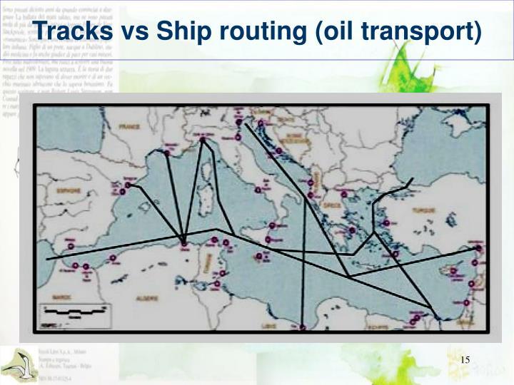 Tracks vs Ship routing (oil transport)