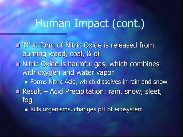 Human Impact (cont.)