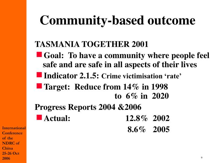 Community-based outcome