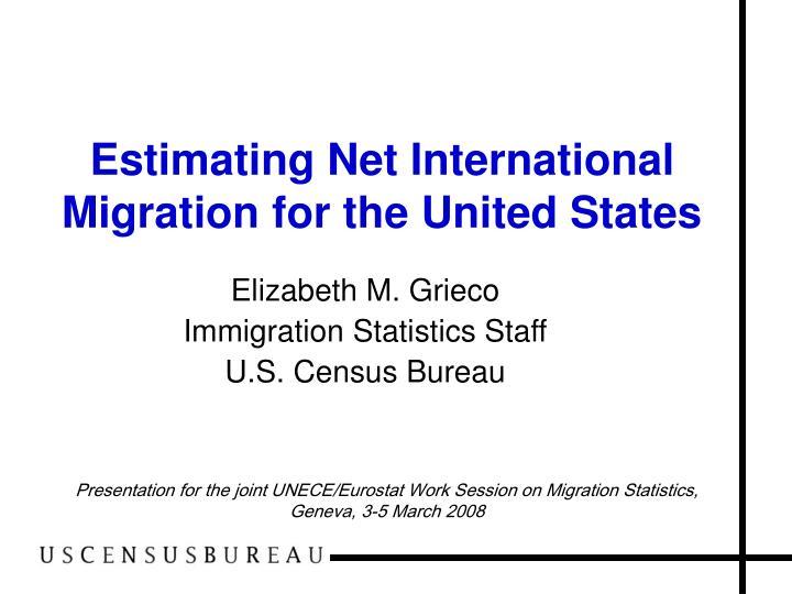 estimating net international migration for the united states