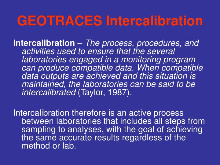 geotraces intercalibration n.