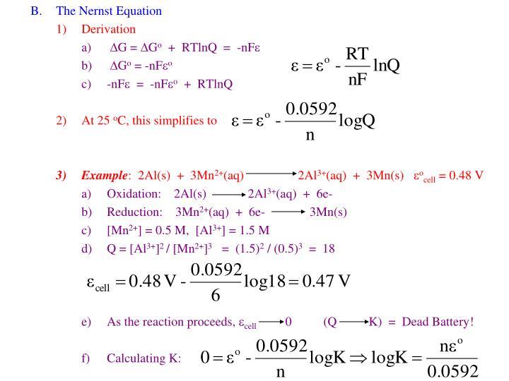The Nernst Equation