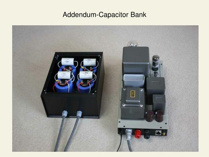 Addendum-Capacitor Bank