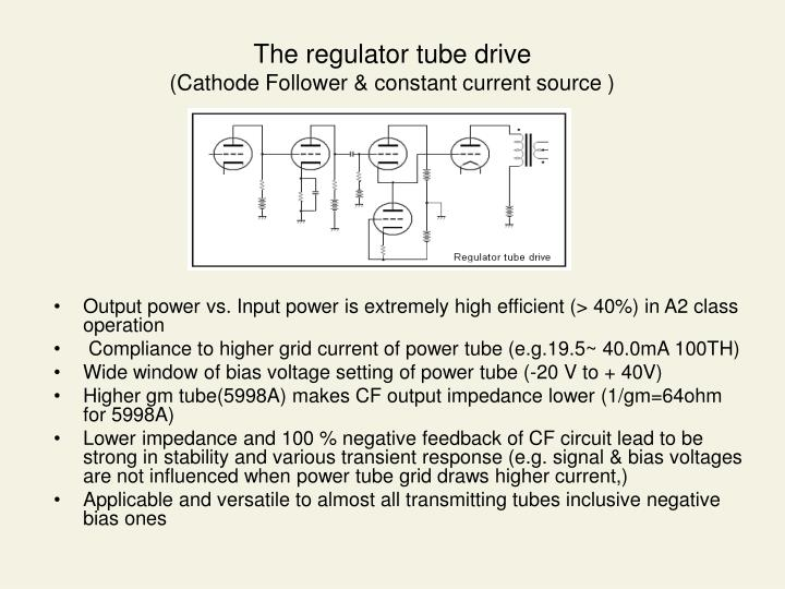The regulator tube drive