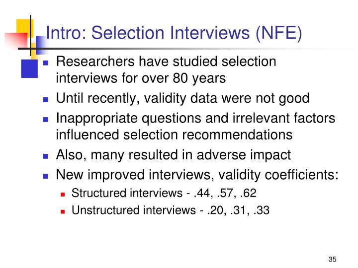 Intro: Selection Interviews (NFE)