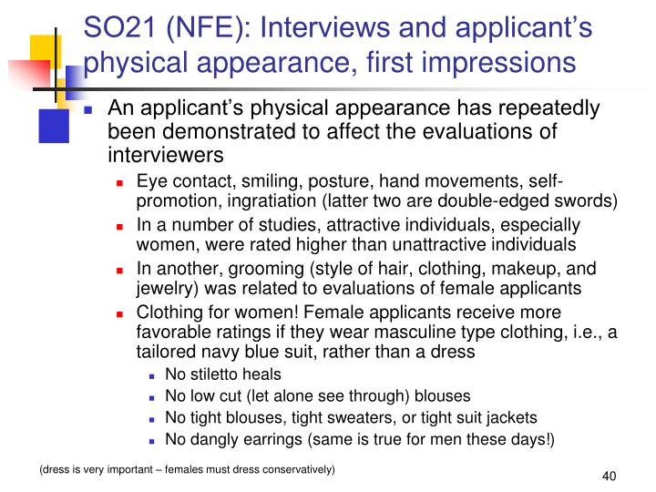 SO21 (NFE): Interviews and applicant's