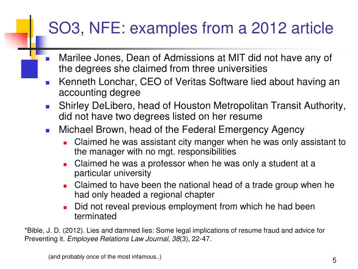 SO3, NFE: examples from a 2012 article