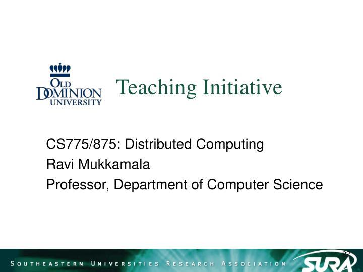 Teaching Initiative