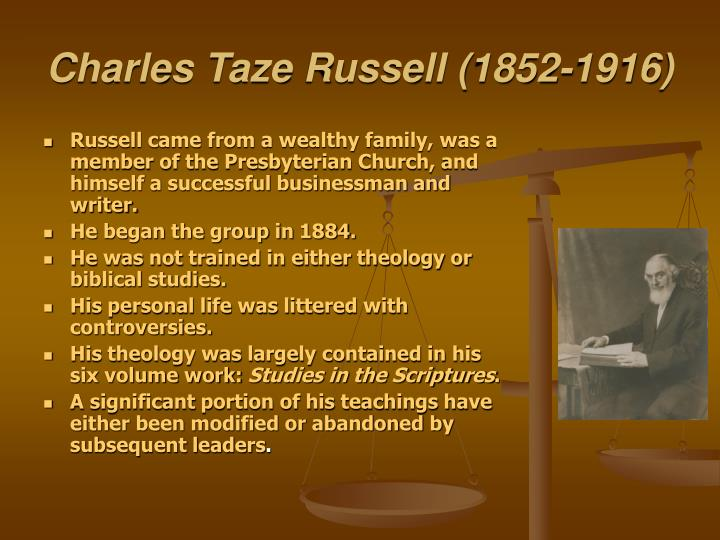 Charles Taze Russell (1852-1916)