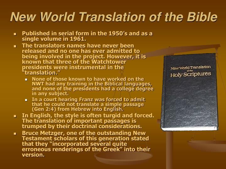 New World Translation of the Bible