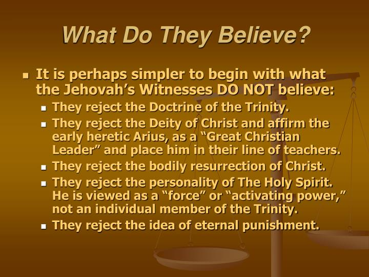 What Do They Believe?