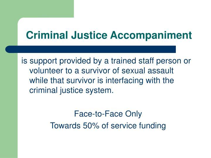 Criminal Justice Accompaniment