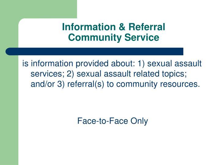 Information & Referral