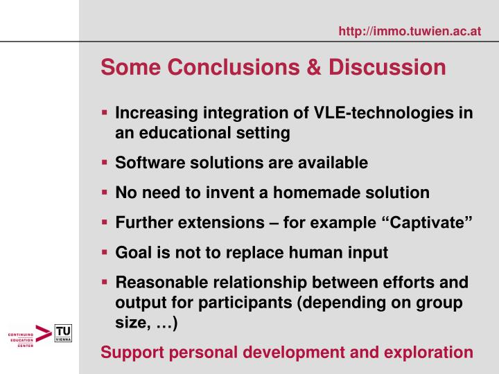 Some Conclusions & Discussion