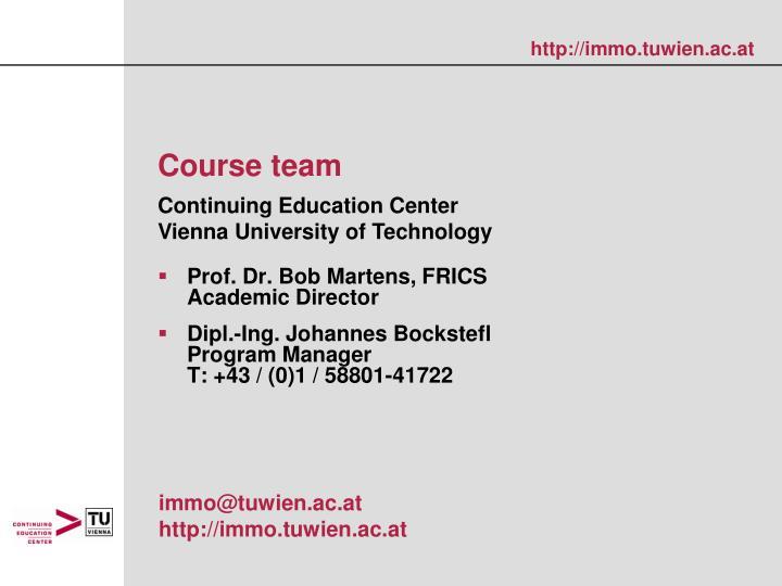 Prof. Dr. Bob Martens, FRICS