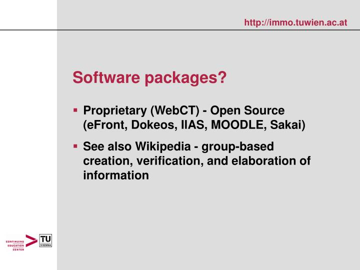 Software packages?